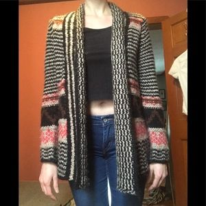Native American knit cardigan